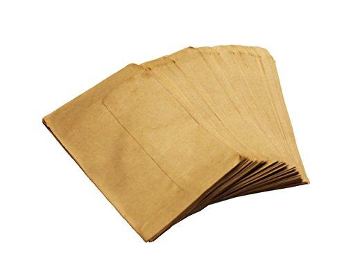 Walkingpround 100 pcs/lot Vintage Blank Kraft Paper Glue Bags Hybrid Seed Envelopes for Corn Farm Bag Sack (3.54