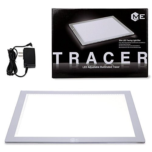 ME456 A3 LED Light Box 12x17 Inch Light Pad 12V DC Power Light Table for Tracing