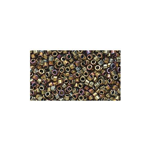 Miyuki Delica Seed Bead 11/0 DB029, Metallic Purple Gold Iris, 9-Gram/Pack
