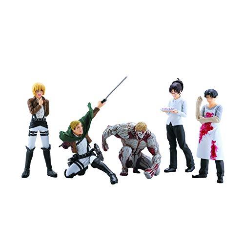 Figure Toys Capsule Action (Animewild Attack On Titan Series 4 Capsule Toys Mini Figure (1 Random))