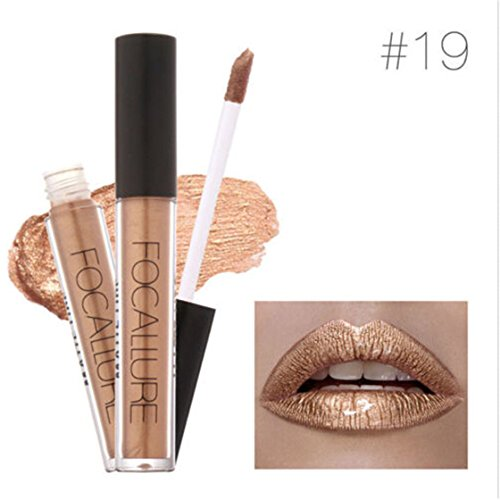 TraveT Waterproof Metallic Lipstick Cosmetic