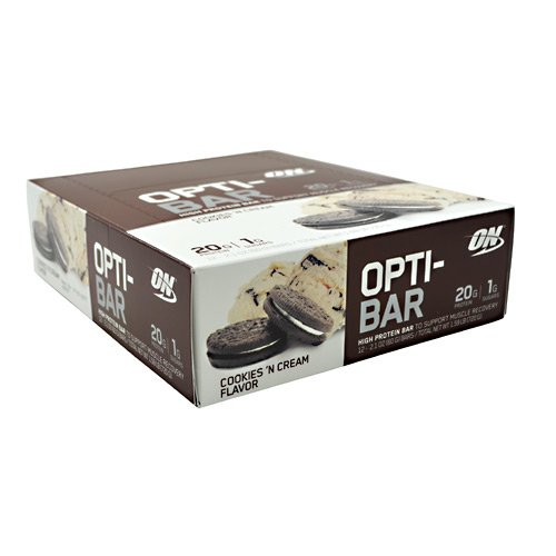 ON Opti-Bar – Cookies 'n Cream – 12 – 2.1 oz (60G) Bars