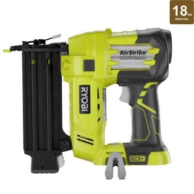 Air Finishing Nailer - Ryobi P320 Airstrike 18 Volt One+ Lithium Ion Cordless Brad Nailer (Battery Not Included, Power Tool Only)