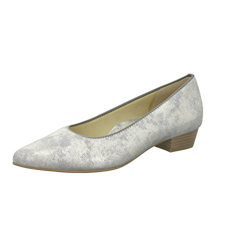 Ara Women's Peggy Ballet Flat Tan Brushed Metallic 6.5M (Tan Metallic Ballet Flats Shoes)
