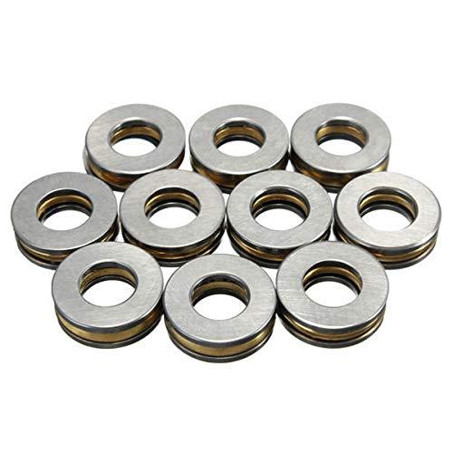 (10pcs F6-14M 6x14x5mm Thrust Bearing 6 x 14 x 5mm - Machinery Parts Ball Bearing - 1 x Set Axial Ball Thrust Bearing (10pcs))