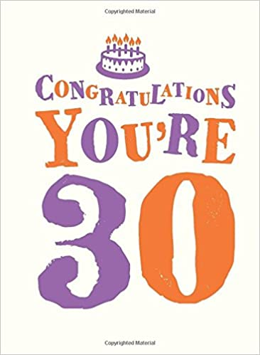 Book Congratulations You're 30 (Gift Books)