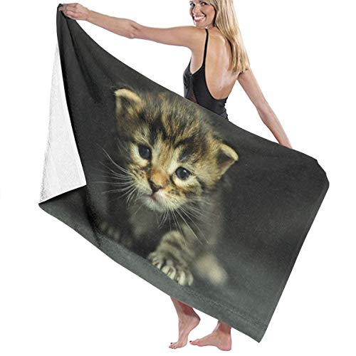 Cats Kittens Dressed Up Bath Towel Beach Spa Shower Bath Wrap Soft Light Comfortable Dries -