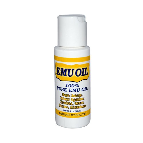 B.N.G. Natural Treasures 100% Pure Emu Oil, 2 Fluid Ounce