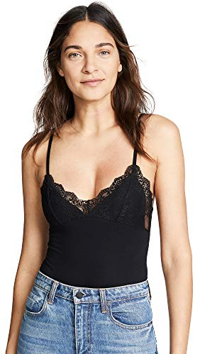 Only Hearts Women's Lined Lace Cup Bodysuit, Black, Medium