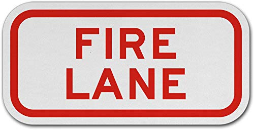 Traffic Signs - Fire Lane Sign 10 x 7 Aluminum Metal Sign Street Weather Approved Sign 0.04 Thickness