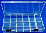 "Clear View Storage Case - 8"" x 4"" - 18 Compartment"