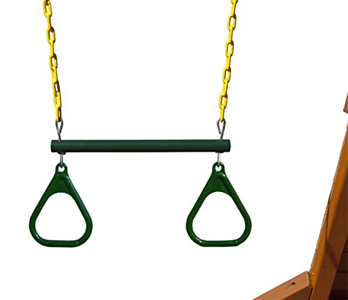 Gorilla Playsets 43cm Trapeze Bar with Rings, Green/Yellow B00QT5FH3K