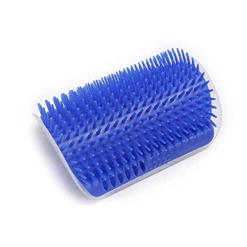 WYS Pet cat licker Corner Massage Brush Makes Cats self-itching Massage Comfortably self-Entertainment for Families to Save Space - Blue