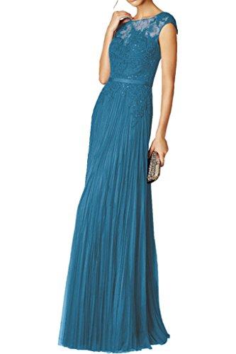 mia Royal Spitze Dunkel La Gruen Neu Chiffon Braut Ballkleider Abendkleider Figurbetont Partykleider Langes Festlichkleider Blau qfWqOEynpd