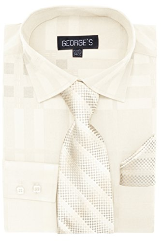 ivory dress shirt and tie - 2