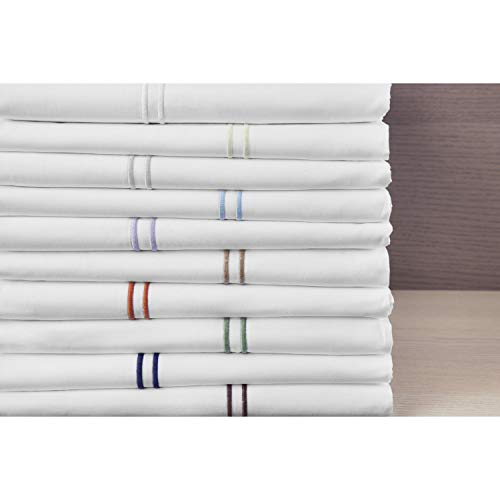 Bellino Fine Linens Manhattan Hotel Collection Pillowcases White King ()