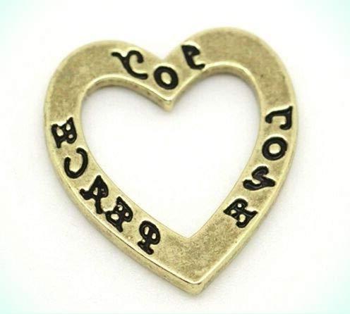 Affirmation Heart Charm - 3