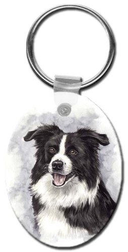 Canine Designs Border Collie Oval Key Chain