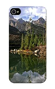 New Style Stylishgojkqt Taggart Lake Reflection Wyoming Premium Tpu Cover Case For Iphone 5/5s