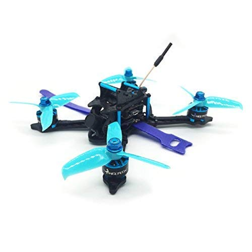 HGLRC 145mm FPV Racing Drone PNP 3 inch Drone Frame Omnibus F4 Flight Controller 28A Blheli_S 4 in 1 ESC 25/100/200/350mW Switchable VTX 1407 3600KV Brushless Motor RC Drones Quadcopter (FRSKY XM+)