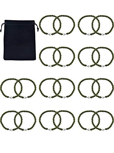 Gejoy Military Boot Straps Blousing Garters Elastic Boot Bands with Metal Hooks for Army green and Air Force, 10 ()