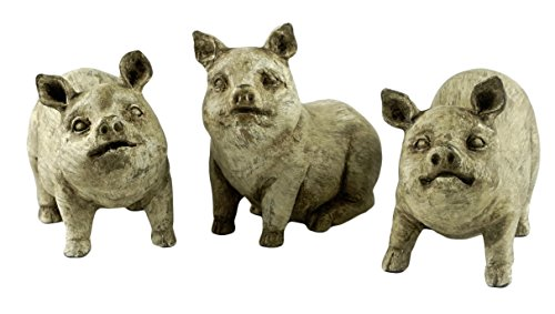 Party Explosions Farmhouse Pigs Rustic Figurines - Set of -
