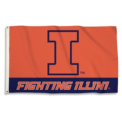 NCAA Illinois Fighting Illini 3-by-5 Foot Flag with ()