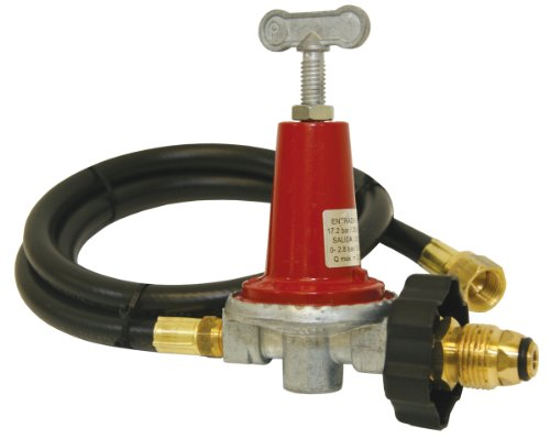 (Bayou Classic 5HPR-40 48-Inch LPG Hose, High Pressure Adjustable Regulator)