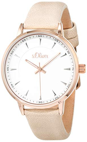 s.Oliver Womens Analogue Quartz Watch with Leather Strap SO-3730-LQ