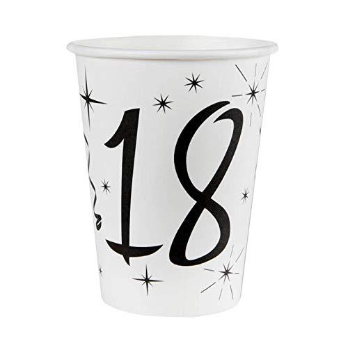 Chal – 20 vasos de cumpleaños para 18 años