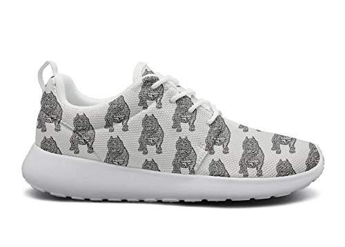 rttyl et67u67 Custom Sneaker Woman Fashion American Bully Dog Animal Training Track Running Shoes (American Bulldog Dog Shoes)