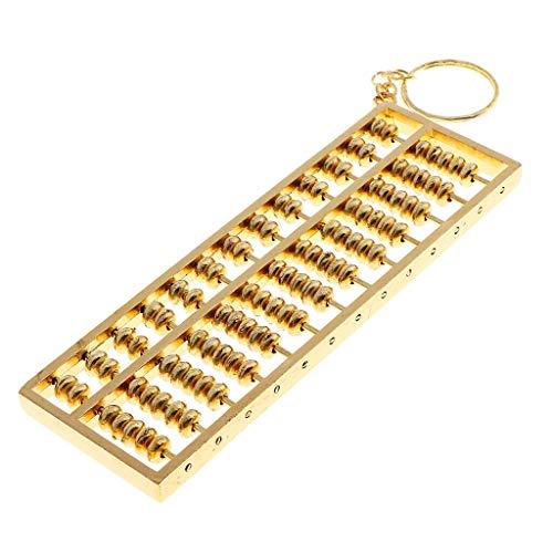 NATFUR 13 Grids Fortune Abacus Alloy Pendant Keychain Keyring for Car Handbag Purse Elegant Key-Chain for Men Holder for Girls for Gift Beautiful Fine Lovely Beauteous