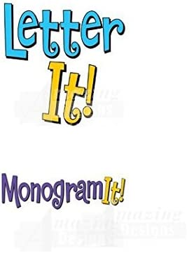 Amazing Designs Letter It and Monogram It Combo Embroidery Machine Software Combo