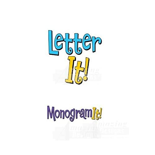 Image of Sewing Amazing Designs Letter It and Monogram It Combo Embroidery Machine Software Combo