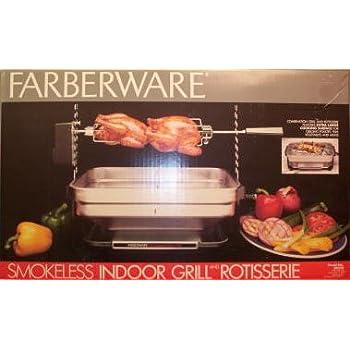 Amazon.com: Vintage Faberware Rotisserie Grill Indoor Hearth ...