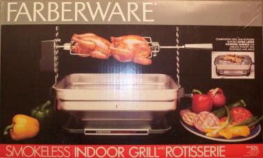 Vintage Faberware Rotisserie Grill Indoor Hearth Broiler INCOMPLETE