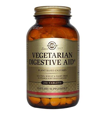 Solgar - Vegetarian Digestive Aid, 250 Chewable Tablets Digestive Enzymes 250 Tablets
