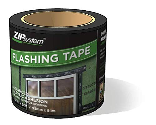 - Huber ZIP System Flashing Tape | 3.75 inches x 30 feet | Self-Adhesive Flashing for Doors-Windows Rough Openings