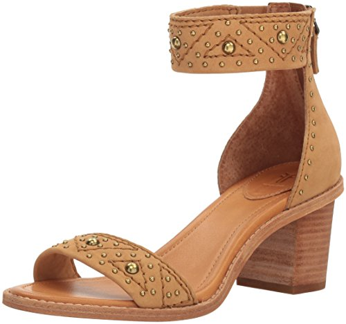 FRYE Women Brielle Deco Back Zip Dress Sandal Sand