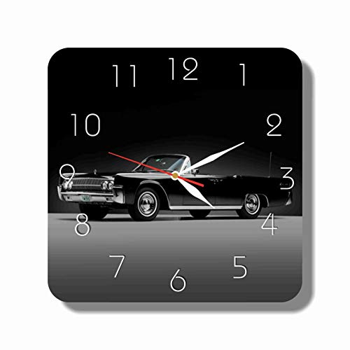 ART TIME PRODUCTION Lincoln Continental 11'' Handmade Wall Clock - Get Unique décor for Home or Office – Best Gift Ideas for Kids, Friends, Parents and Your Soul Mates.