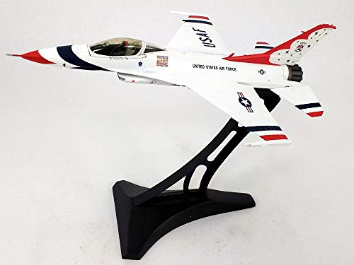 Lockheed Martin F-16 (F-16C) Falcon - USAF Thunderbirds with Display Stand - 1:72 Scale Diecast Model ()