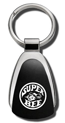 Au-TOMOTIVE GOLD Compatible Keychain and Keyring for Dodge Super Bee [KCK.SUPB] - Black Teardrop