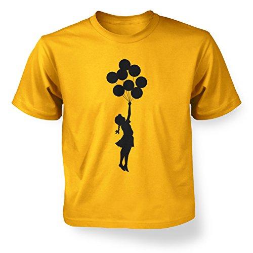 Banksy Tshirts PP - Palästinisches Ballonmädchen Banksy Kinder T-Shirt 5 Jahr Gold