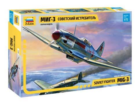 Zvezda 7204 - Soviet Fighter MIG-3 - Plastic Model Kit Scale 1/72 length 11 cm/ 4.25