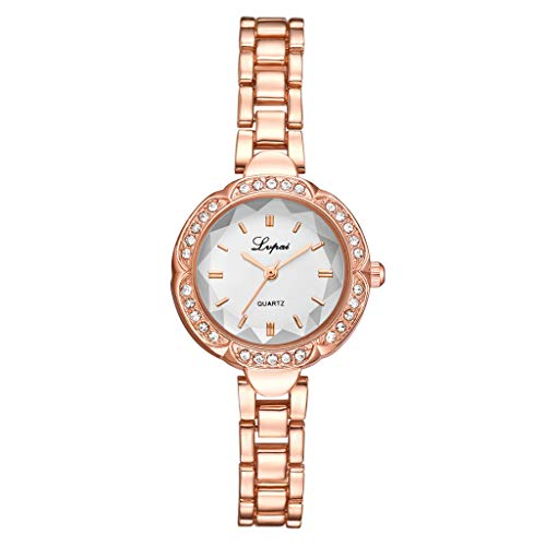 LUCAMORE Women Luxury Diamond Dial Stainless Steel Bracelet Quartz Female Small Wrist Watch
