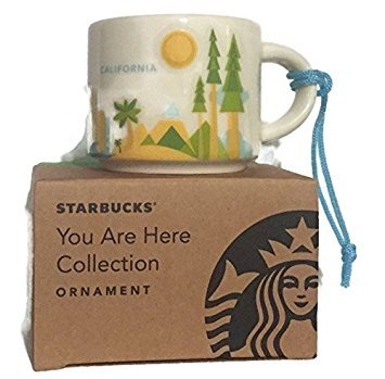 Starbucks You Are Here California 2 Oz - Ornaments California