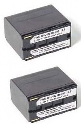 TWO 2 Batteries for Canon Canon BP-945 BP-950 BP-970 BP-955 BP-955G BP-975 by Power 2000