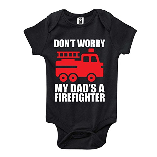 Don't Worry My Dads A Firefighter One-Piece Baby Onesie Bodysuit