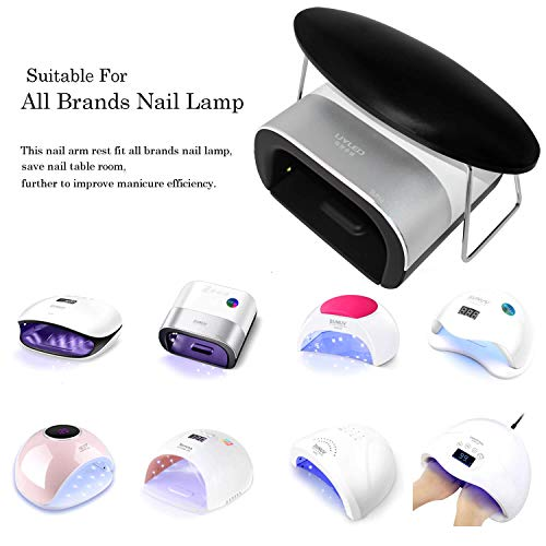 I·B·N G Nail Arm Rest, Microfiber Leather Nail Hand Cushion Manicure Pillow Rest for Salon Home Use, Black