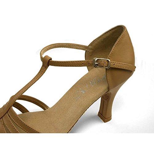 Dimichi Volwassen Kiki Lederen Multi-strap Open Teen Ballroom Schoen Sandalen Prachtige Tan